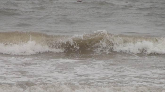 海浪石沙滩手绘图片